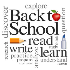 Back to School Word Cloud, education, literacy projects