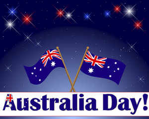 Australia Day background.
