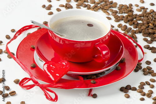 Festive coffee on  Valentine's Day