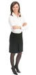 Full body portrait of young businesswoman