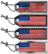 USA Flags Set of Grunge Metal Tags