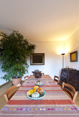 beautiful apartment, interior, dining room