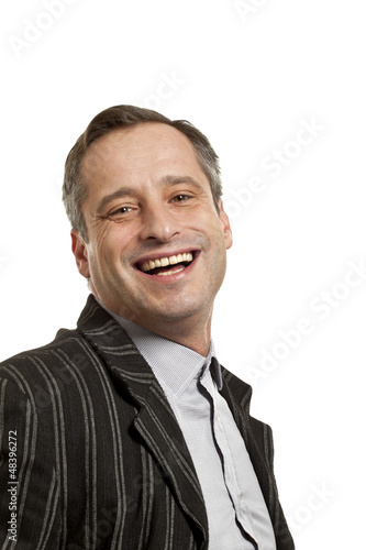 portrait of adult man, isolated on white background