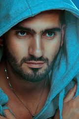 Good looking Arabian Man. Fashion style. Studio