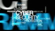 Cyber security crime protection word tag cloud video