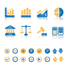 Finance and business vector icon set