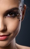 Makeup with rhinestones poster
