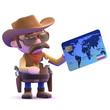 Cowboy with a credit card