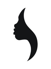 Face profile of african woman- vector