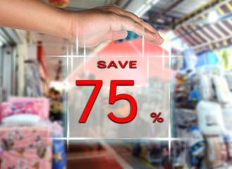 save 75 percent
