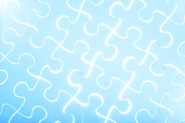 puzzle in blue light