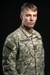 Military young man. Studio portrait.