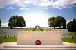 Leinwanddruck Bild - First World War Cemetery near Arras, Northern France