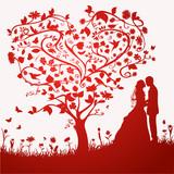 Fototapety Hochzeitskarte Vektor
