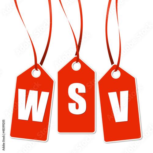 3 rote Anhänger mit WSV