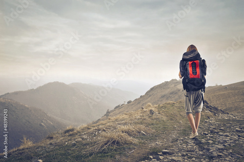 walk with backpack