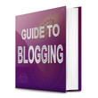 Blogging guide concept.