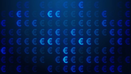 Euro symbol background loop.