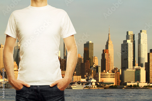 guy and new york background