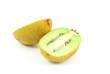 Kiwi healthy fruit isolated on the white.