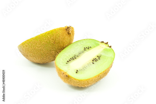 Kiwi healthy fruit isolated on the white.