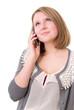Nachdenklicher Teenager mit Smartphone