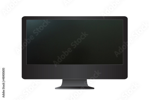 Computer monitor isolated on the white background.