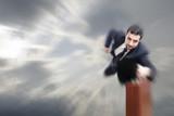 Flying businessman, speed effect