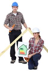 A nice couple of carpenter.