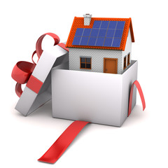 Opened Gift House