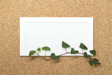 蔦の葉のメッセージボード(横長)