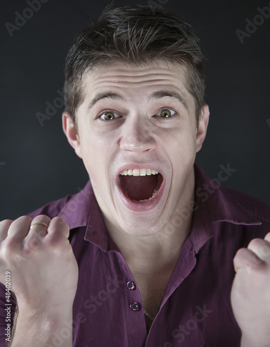 emotional portrait of attractive men happy face expression