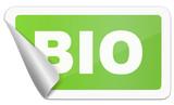 Aufkleber grün bio