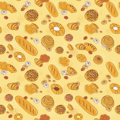Bakery seamless pattern