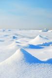 ice desert winter landscape poster