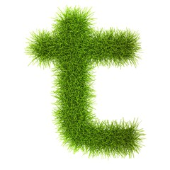 Grass style Latin Alphabet Letters and Numbers