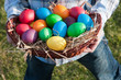 Easter eggs in a panier