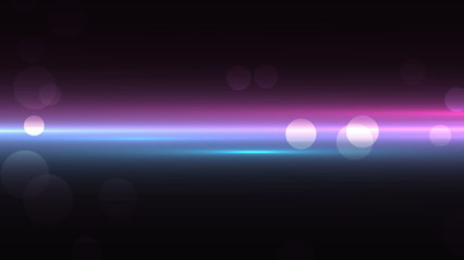 luminous background with bokeh and particles