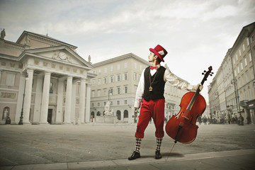 musician with viola