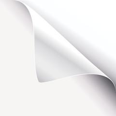 white paper corner
