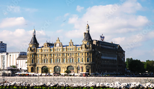 Haydarpasa train station building Istanbul Turkey  (Also Harbor)