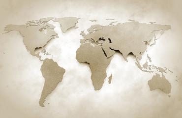 World map vintage