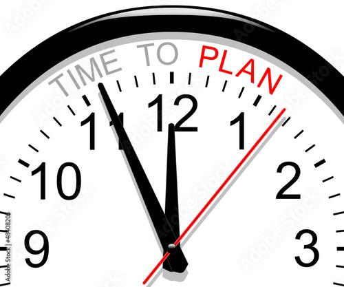 Clock. Time to plan