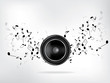 Abstract music retro grunge background