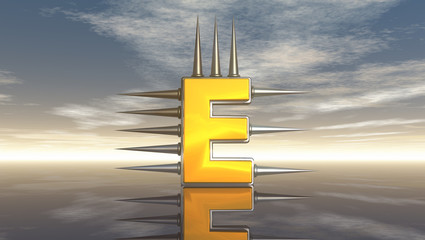 prickles letter e