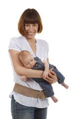 Happy mother with baby - Glückliche Mutter mit Baby