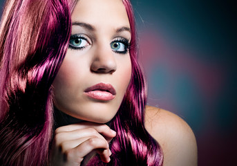 woman with beautiful, colored hair/hairbeauty 28