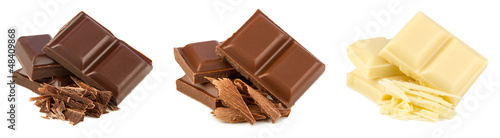 canvas print picture chocolate set