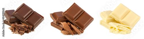 Leinwandbild Motiv chocolate set