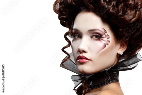 woman beautiful halloween vampire aristocrat